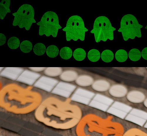 Garlands make great decorations for many themes, and what kid doesn't love things that glow in the dark? Source: Design Mom