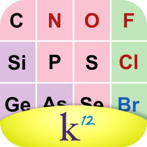 The K¹² Periodic Table for iPhone and Android lets you explore the elements and their key attributes in a simple, easy-to-use way. It's perfect for working through your homework problems for Science courses.