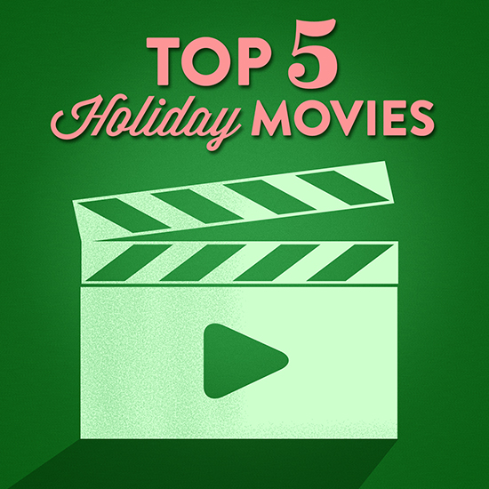 From classics to newer favorites, it's always fun to settle in for a cozy night with a favorite movie, a mug of hot cocoa, and the people you love most. Here are five of our favorite kid-friendly holiday movies.