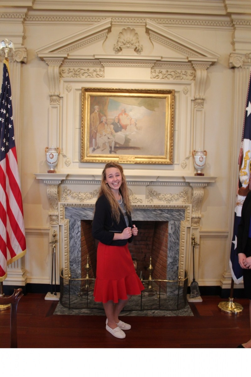Grace enjoyed a tour of the White House!