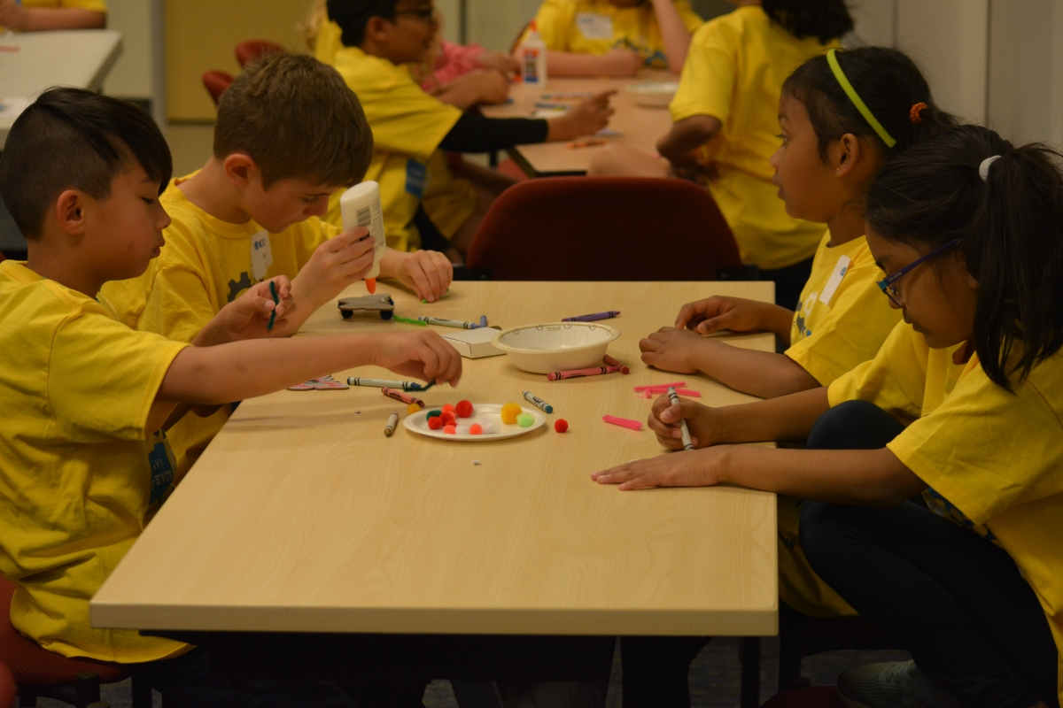 K12-powered kids making new friends, and new creations!